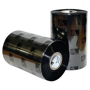 Ruban transfert thermique cire Zebra 89 mm x 450 m - noir - par 12