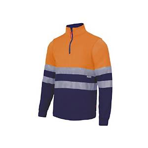 Sudadera bicocolor Velilla 305701 - naranja/azul - talla XL