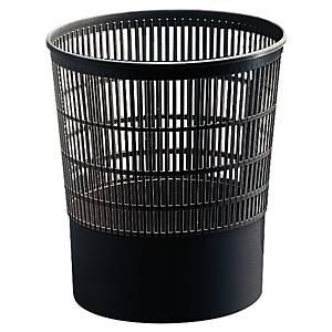 Corbeille à papier ronde Cep First en plastique, 16 l, noir