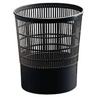 Cep Black Plastic Waste Bin - 16 Litre Capacity