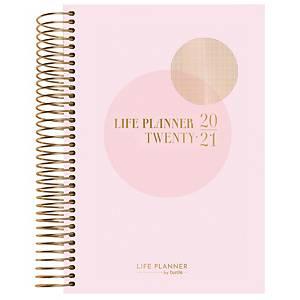 Studiekalender Mayland 8154 Life Planner, 1 dag, pink