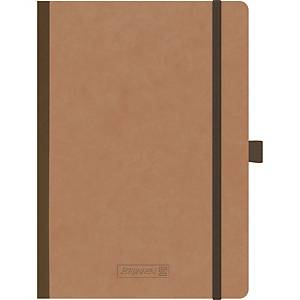 Notatbok Brunnen 96 blade/192 sider, A5, ruter, brun
