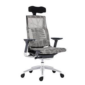 Kancelářská židle Antares Pofit, šedá & stříbrná
