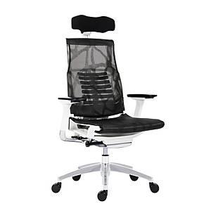 Kancelárska stolička Antares Pofit, biela & čierna