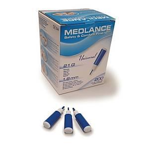 Medlance plus Universal -turvalansetti 21G 1,8mm sininen, 1 kpl=200 lansettia