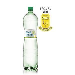 Pramenitá voda Zlatá Studňa, jemně perlivá, 1,5 l, 6 kusů