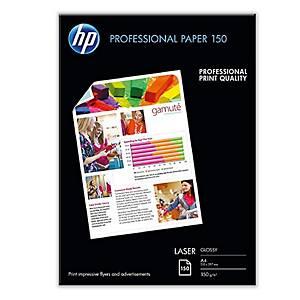 Pacote de 150 folhas de paper HP Profesional Laser A4 120 gr