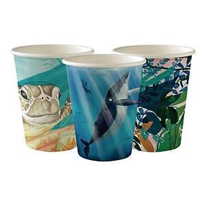 Kubeczki papierowe DUNI Art, 240 ml, 50 sztuk
