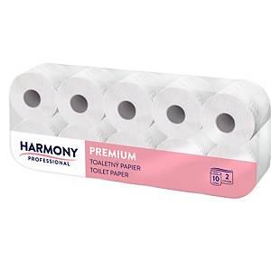 Toaletní papír Harmony Professional konvenční role 1790, bílá, 2vrstvý