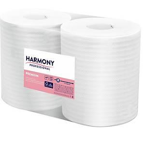 Harmony Professional průmyslový kotouč, 2 vrstvy, celulóza, bílý,  2 kusy