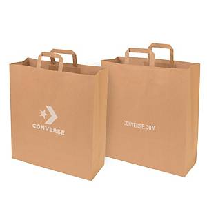 PAPER BAG KRAFT L BRW CONVERSE