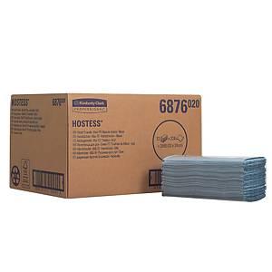Papírové utěrky Kimberly Clark Hostess 6876, 1vrst., modré, 12 bal. po 224 ks