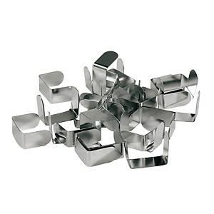 Metalen klemmen voor archiefdozen, doos van 210 klemmen