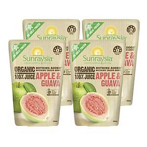 Sunraysia光之果有機蘋果番石榴汁200毫升 4包裝