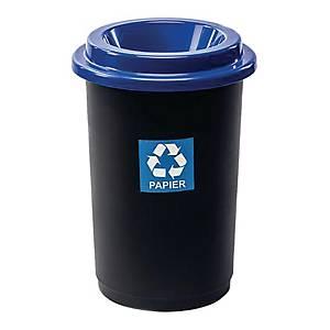 Kosz do segregacji odpadów ECOBIN 50 l, niebieski