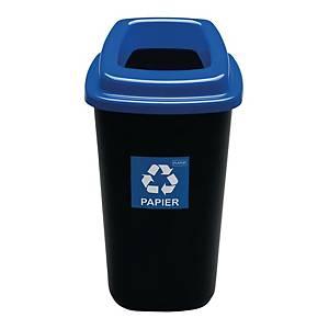 Kosz do segregacji odpadów ECOBIN Sort Bin 90 l, niebieski