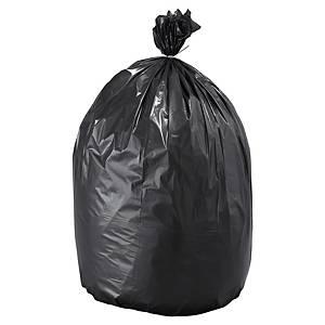 Sac poubelle pour déchets lourds NF - 110 L - 70 microns - gris - 100 sacs
