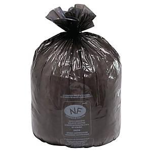 Sac poubelle pour conteneurs - 240 L - 25 microns - noir - 100 sacs