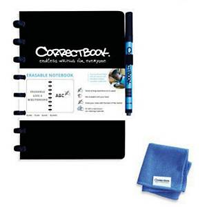 Correctbook A5 lined black
