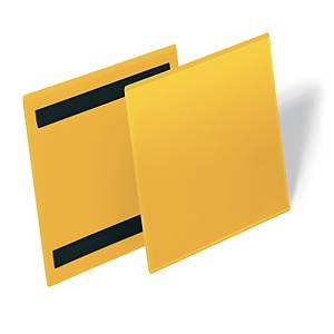 /Tasca per identificazione magnetica Durable orizzontale A5 giallo - conf. 50