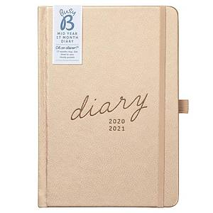 BUSY B 17 Month Week To View Academic Diary A5 Rose Gold