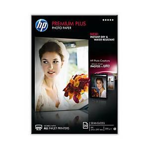 Pacote de 20 folhas de paper HP Premium Plus Gloss A4 300 gr