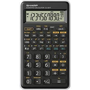 SHARP SH-EL501TWH tudományos számológép, fekete-fehér