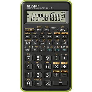 SHARP SH-EL501TBGR tudományos számológép, fekete-zöld