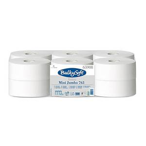 Bulky Soft Premium Mini Jumbo Toilettenpapier 65908 weiß, 2-lagig