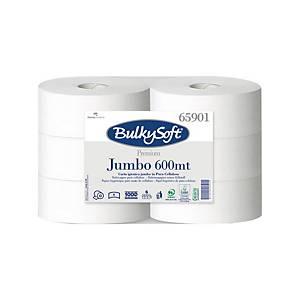 Bulky Soft Premium Jumbo Toilettenpapier 65901 weiß, 1-lagig