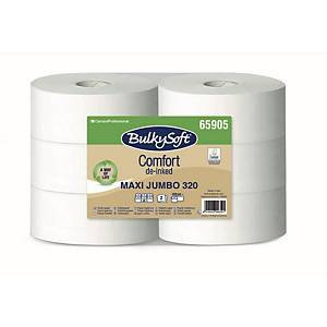 Bulky Soft Comfort Jumbo Toilettenpapier 65905 weiß, 2-lagig