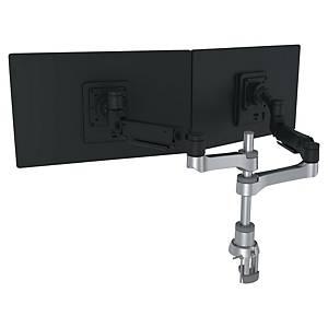 Bras support écran R-Go Tools Caparo - à pince - 2 écrans - noir/argent
