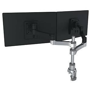 Bras support écran R-Go Tools Zepher - à pince - 2 écrans - noir/argent