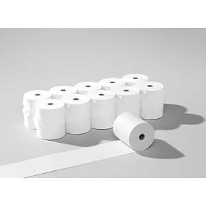 Rouleaux de papier thermique 57x40mmx17m, 55g/m2, blanc, sans phénol, 20 roul.