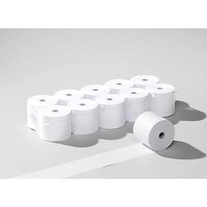 Rouleaux de papier thermique 80x80mmx80m, 55g/m2, blanc, sans phénol, 10 roul.