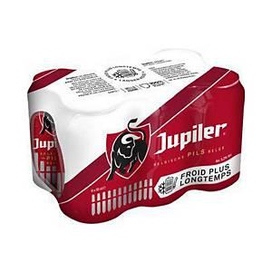 Jupiler bier, pak van 6 blikken van 35,5 cl