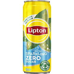 Lipton Ice Tea zero, blik 33cl, per 24