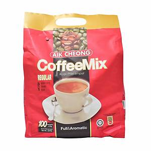 Aik Cheong 3 in 1 Coffee Mix 20G Pack of 100 - Regular