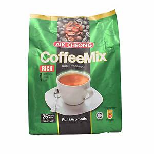 Aik Cheong 3 in 1 Coffee Mix 20G Pack of 25 - Rich