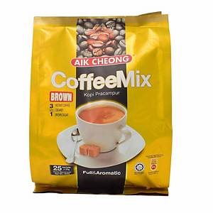 Aik Cheong 3 in 1 Coffee Mix 20G Pack of 25 - Brown