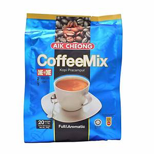 Aik Cheong 3 in 1 Coffee Mix 15G Pack of 25 - No Sugar