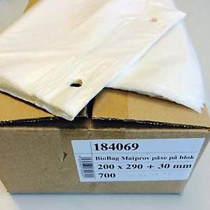 Bio Bag ruokanäytepussi 200 x 320 x 0.016mm, 1 kpl=50 pussia