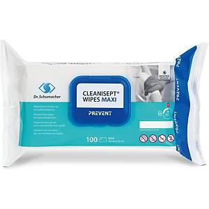 Desinfektionstücher Cleanisept Maxi, Packung à 100Stk., alkoholfrei