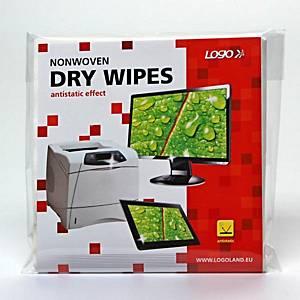 Hydraspunové čistiace utierky LOGO, 15 x 15 cm, 25 ks
