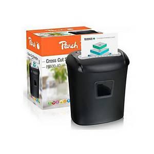 Peach PS500-40 Aktenvernichter, DIN P-4, Cross-Cut, schwarz