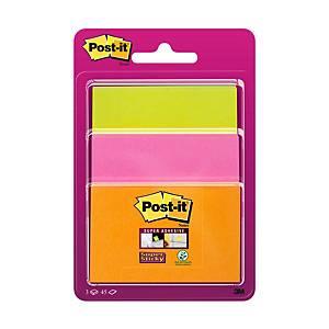 3M Post-it® Super Sticky öntapadó jegyzettömb, különböző méretek, 3 tömb/45 lap