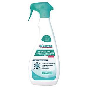 Désinfectant mains et surfaces Wyritol - spray de 750 ml