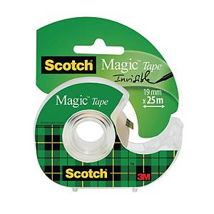 Tapedispenser Scotch + 1 rulle Scotch Magic-tape, 19 mm x 25 m