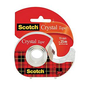 Tejphållare Scotch, inkl. 1 rulle Scotch Crystal-tejp, 19 mm x 25 m