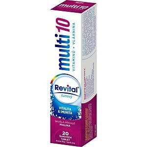 Šumivé tablety Revital® multiforte 23, malina, 20 tabliet
